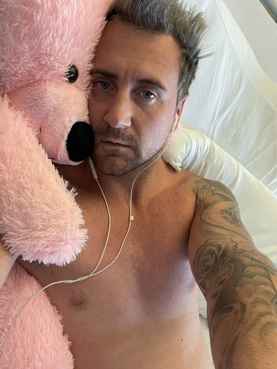 Day 5 of fighting this awful virus Covid 19 corona virus in hospital.. I only have to roll to one side & I'm out of breathe, I ache all over, I have no taste or smell.. I'm just proper struggling.. this bear is massive comfort for me… #coronavirus #covid19 #fighter