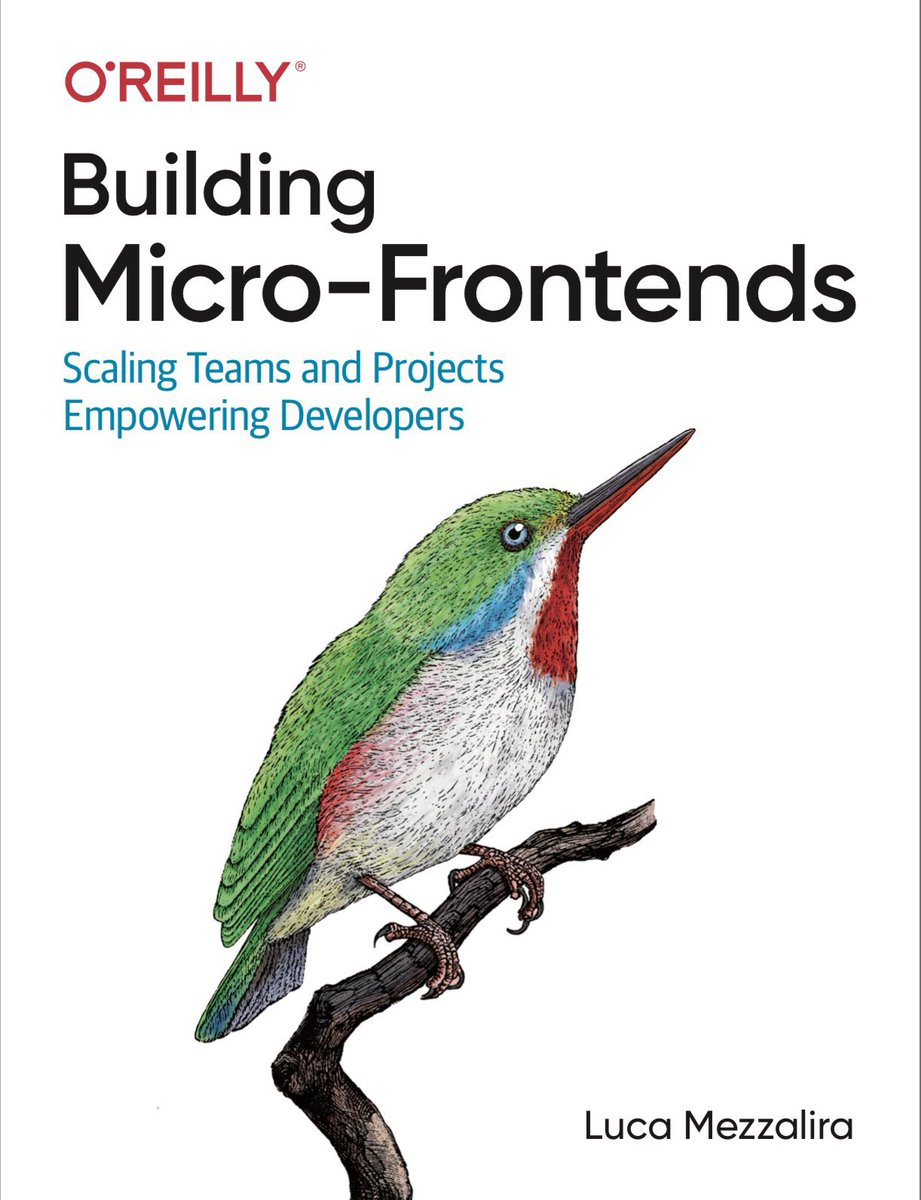Almost 2y, ~280 pages, ~110 diagrams, tens of conferences around the world, 16 workshops, uncountable evenings and weekends spent on my laptop… and it is finally READY 🚀 🎉  Building Micro-Frontends is the book where I reversed all my experience on #microfrontends   🧵👇