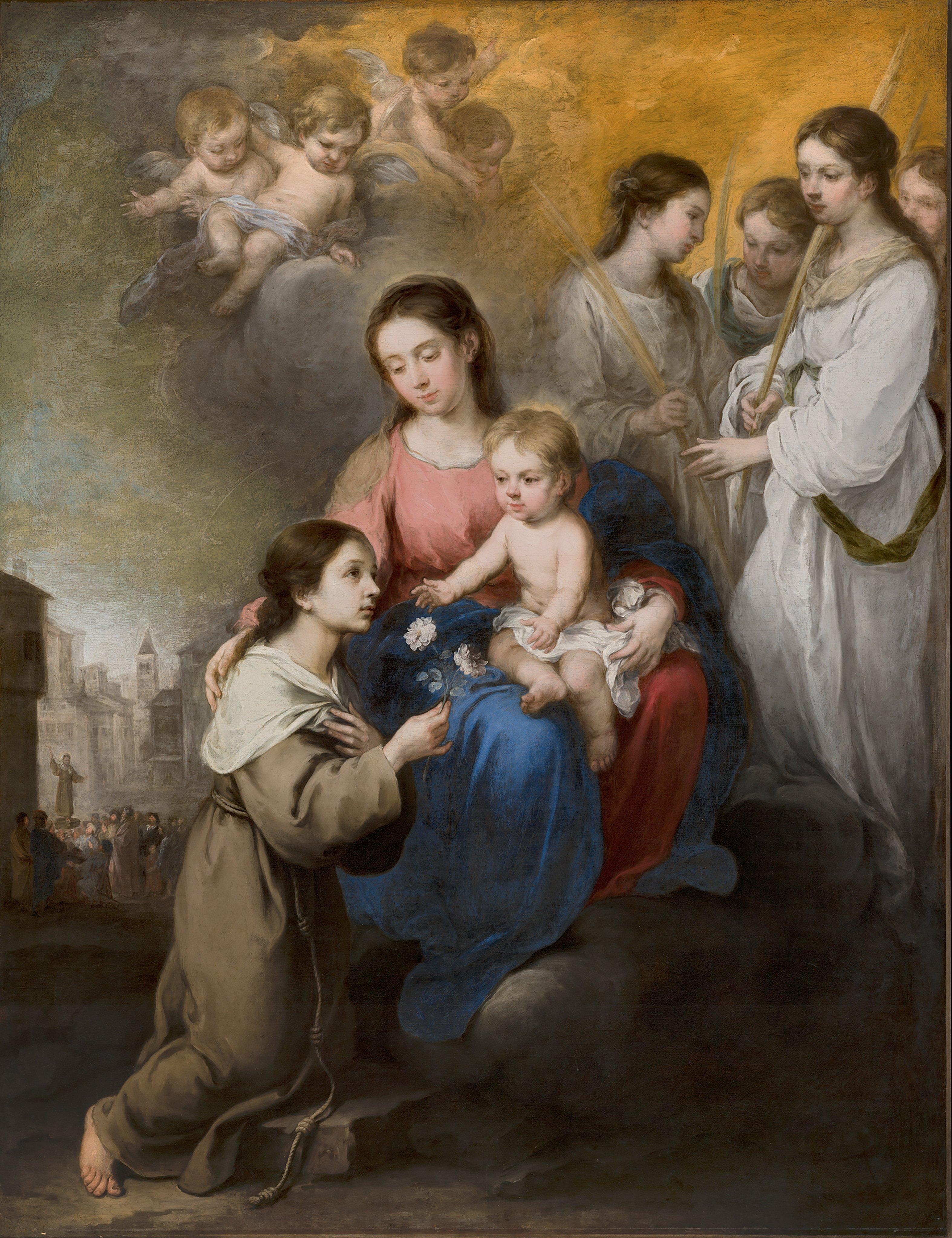 Virgem Maria com o menino Jesus e Santa Rosa de Viterbo