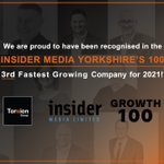 Torsion have been recognised in the top 3 of fastest growing companies in Yorkshire by @insidernwest and we're all incredibly pleased that the hard work in the past 18 months has shown how passionate we are with all we do!#constructionindustry #developmentindustry #onestowatch