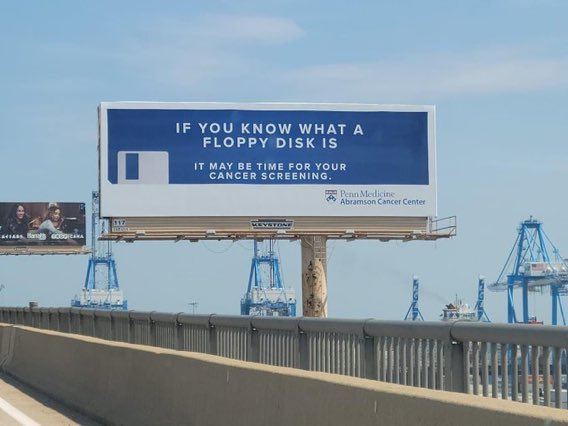 この捻りのきいた広告が面白い!海外でのがん検診を受けるタイミングのお知らせ!