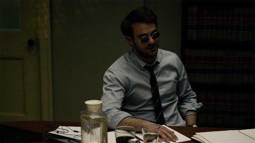 "Charlie Cox as Matt Murdock in ""Daredevil"""