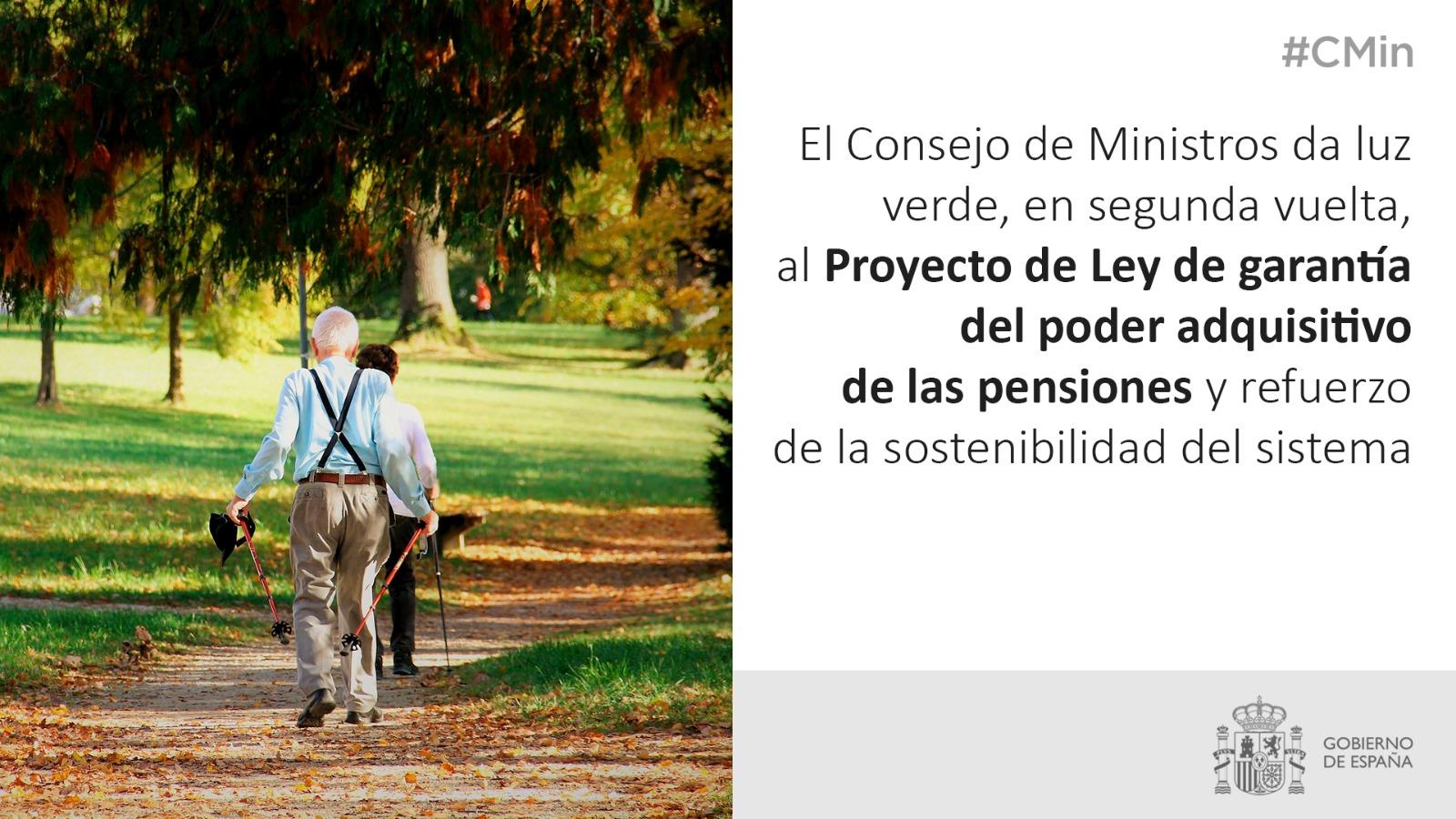 aprobado el proyecto de ley para garantizar el poder adquisitivo de las pensiones