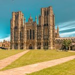 Image for the Tweet beginning: Wells Cathedral was the first