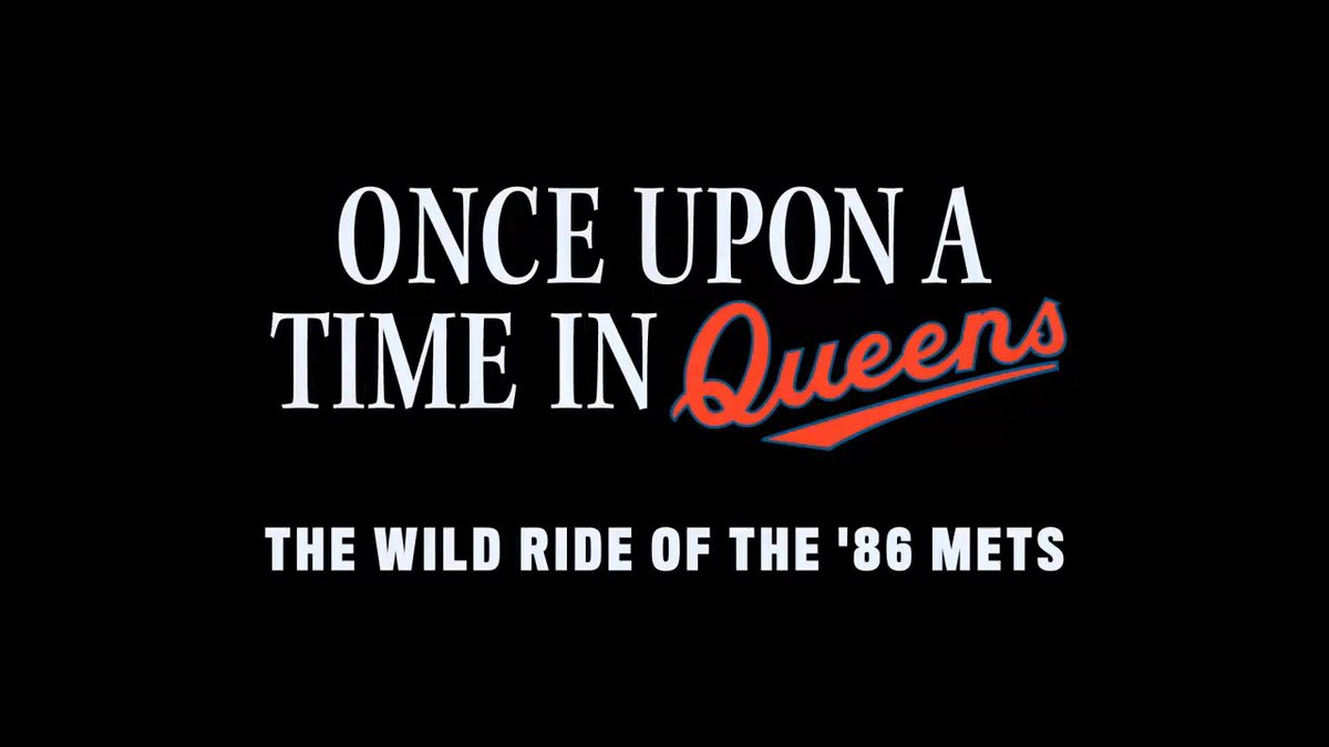 """The true, incredible, wild and unsanitary story of the hated/loved 86 @Mets - """"Once Upon a Time in Queens"""" premieres Sept 14/15 on @ESPN. @30for30 https://t.co/rRMnQb9CU7"""