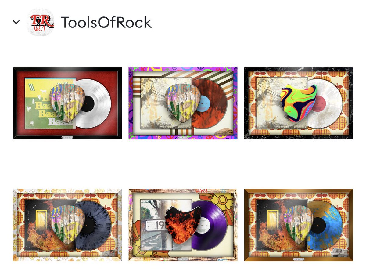 Got some Tools of Rock NFTs. Looking forward to the Metaverse tour! #ToolsOfRock