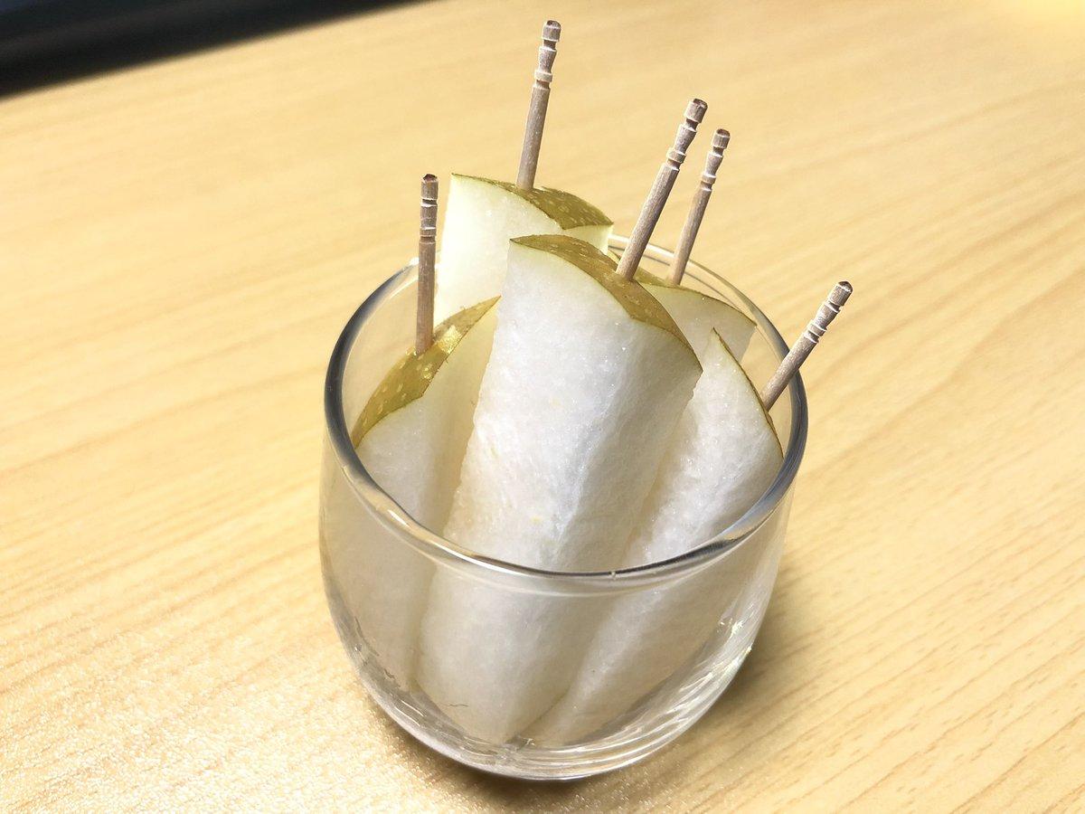 これは覚えておきたい!とっても食べやすそうな、梨の切り方が話題に!