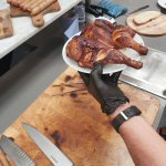 Juicy smoked spatchcock chicken! Coated in our BBQ rub, the amount of moisture still in our chicken after smoking is always a talking point at our demonstrations!   #Smokers #Chicken #BBQ #SmokedChicken #Spatchcock #CommercialEquipment #BlackwoodOvens #Restaurants #Smokehouse