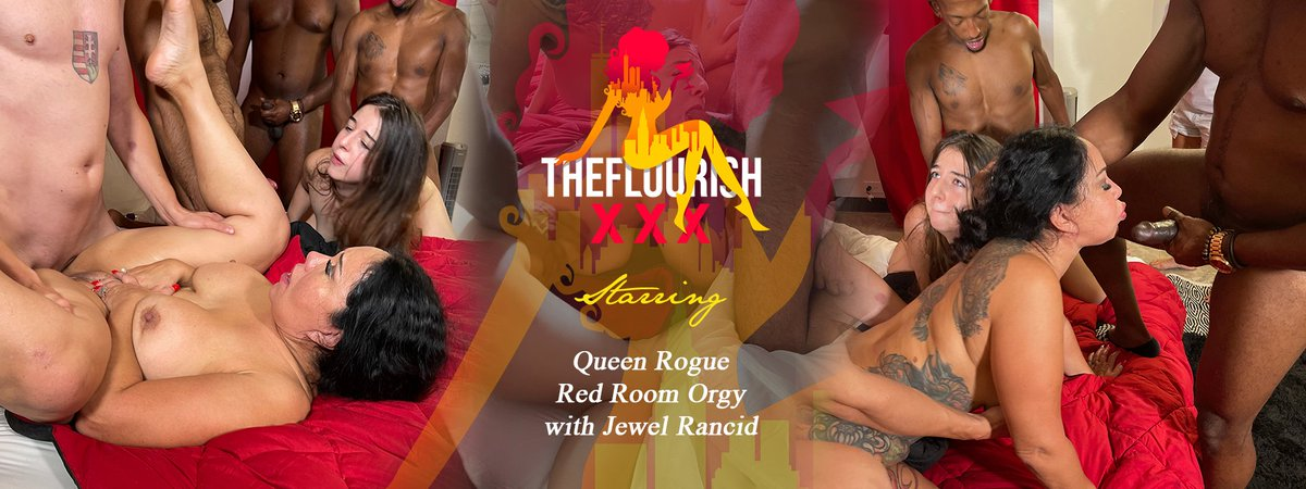 TheFlourishxxx NEW ORGY Scene Launch 👉🏼🧨🍿 Queen Rogue Red Room Orgy Part 1 of 2 starring @queenroguexxx1 @JewelRancid tour.theflourishxxx.com/trailers/Queen…