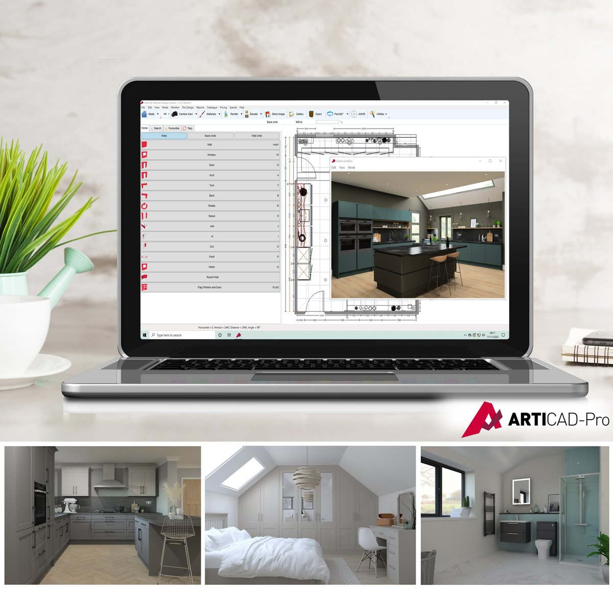 Impress more customers & secure more sales with our leading kitchen, bedroom & bathroom design software, ArtiCAD-Pro! Extremely fast & easy to learn, ArtiCAD-Pro is currently used by thousands of designers as a key part of their design & sales process. bit.ly/38dq3gQ