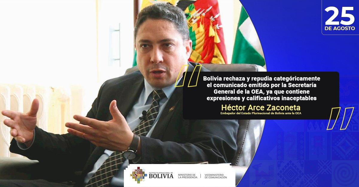 Bolivia denuncia nueva injerencia de la OEA