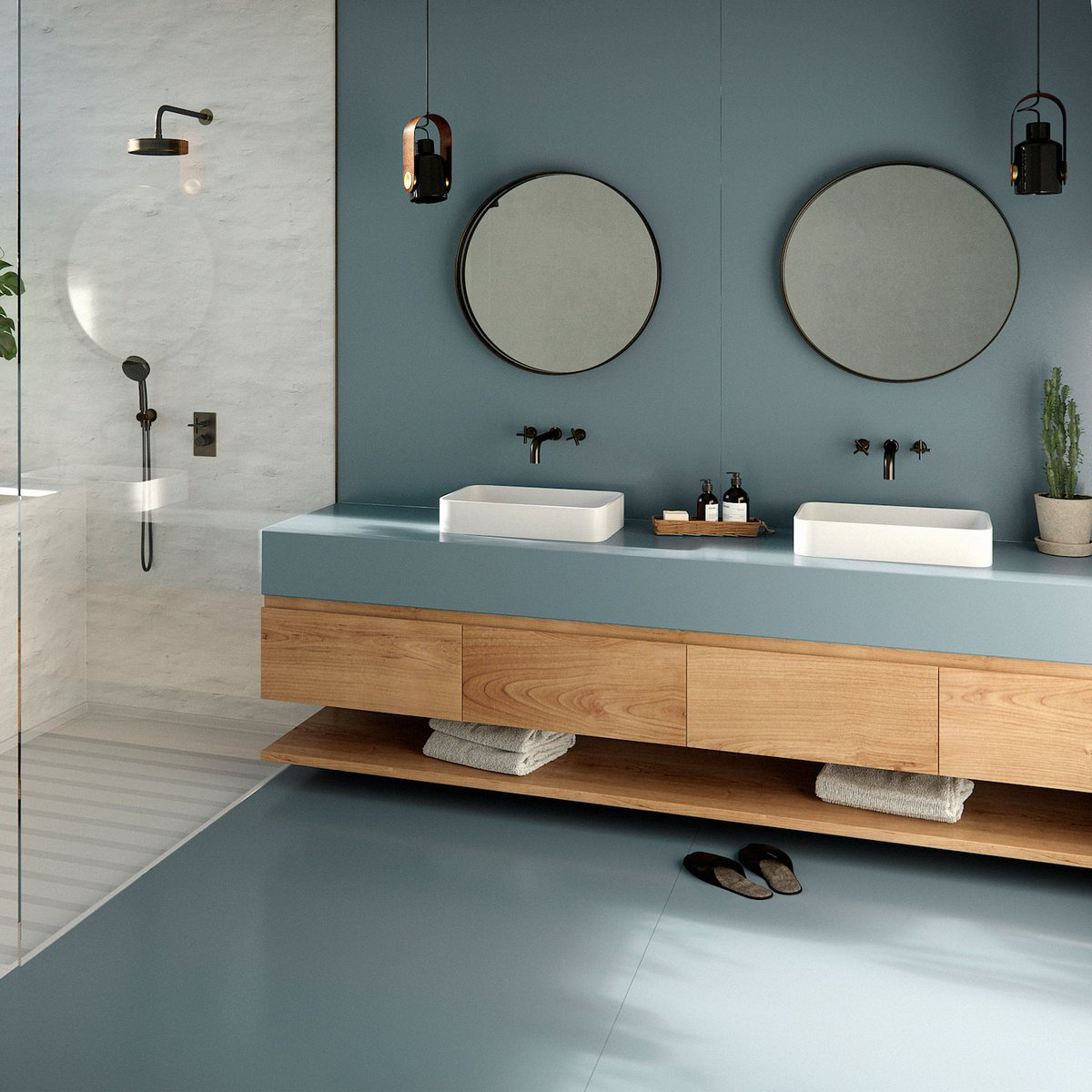 🔵 In the kitchen, in the bathroom, in the living room… blue is a safe bet to decorate any room. Would you like us to prove it? Click on the photos below and get inspired by #Silestone Cala Blue deep blue. Visit bit.ly/3gQlNrv #SunlitDays #HybriQTechnology