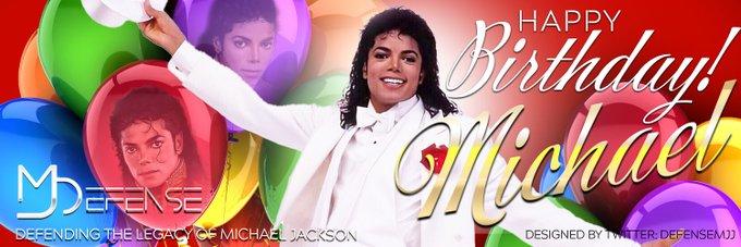 My new Michael Jackson Birthday Banner  Happy Birthday King! 4 more days! August 29!