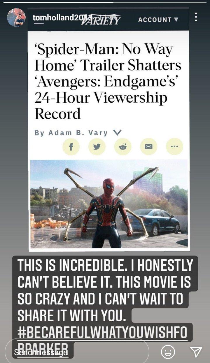 """Tom Holland """"Spider'Man: No Way Home"""""""
