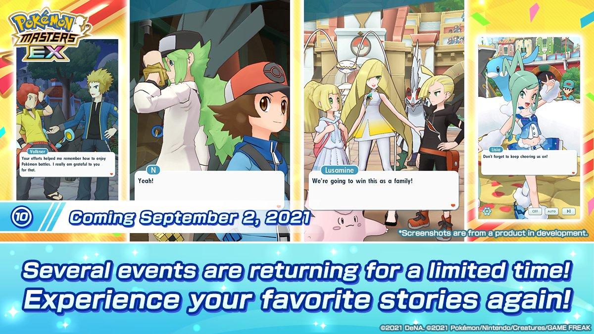 Eventos Pokémon Masters EX
