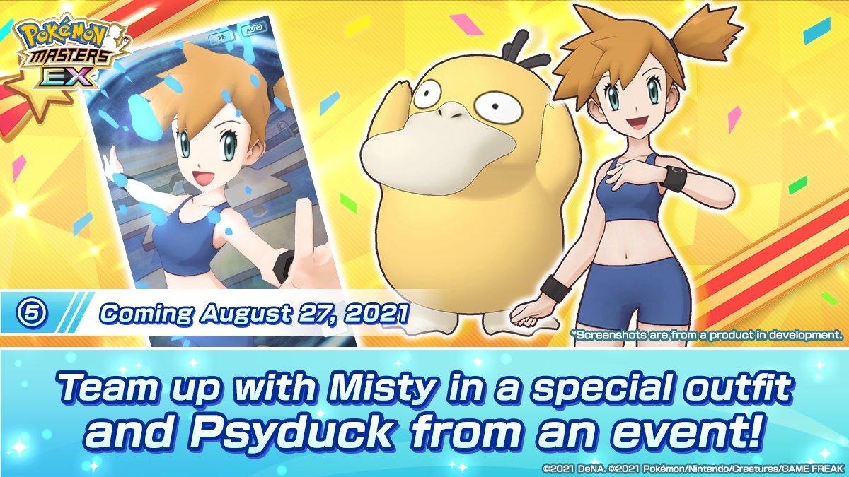 Misty y Psyduck Pokémon Masters EX