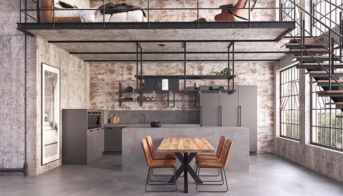 Industrial style: 4 ways to give your client's kitchen an urban edge 👉 ow.ly/Lb5D50FXWjT #kbb #retail @CosentinoUK @CaesarstoneUK @CRLstone @busterandpunch @rotpunktuk @PerrinandRowe @eggersmann_uk @MalmoFlooring @MerewayKitchens @KellerKitchens