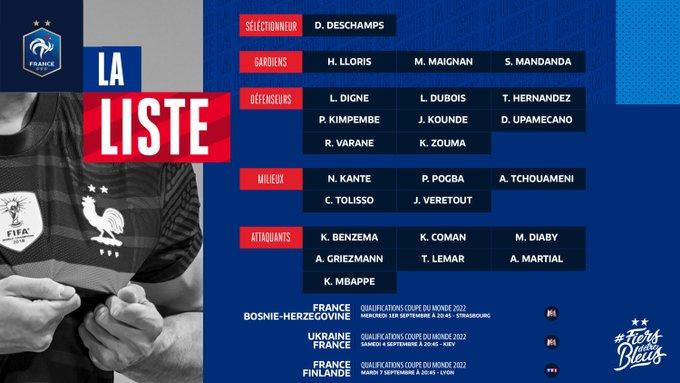 غريزمان سيذهب مع فرنسا وسقوط لينجليه من القائمة 1