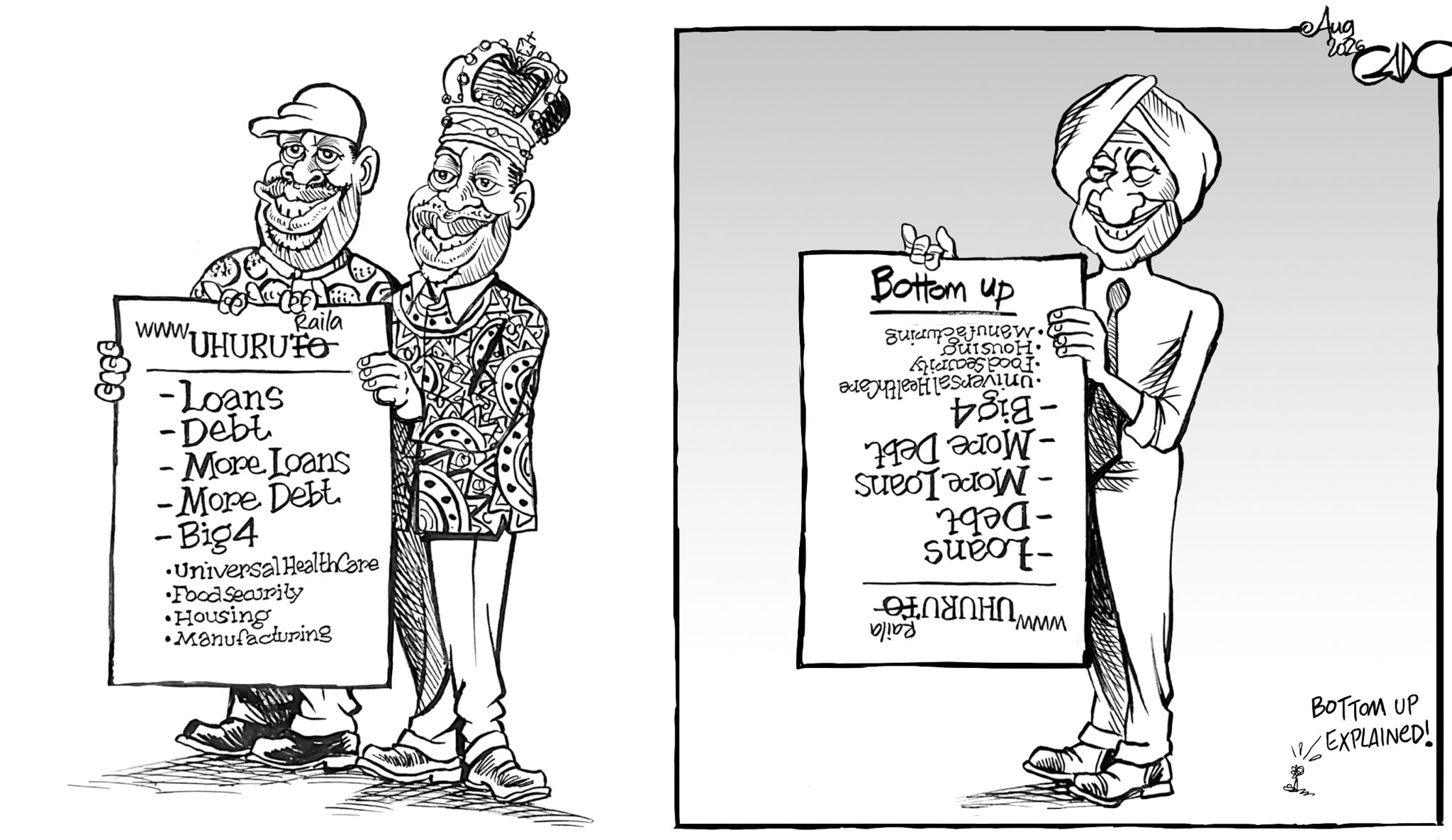 "Gado Cartoons on Twitter: ""Bottom Up explained!… """