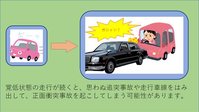 車の運転が単調になりがちなところでの?「覚低走行」に注意!