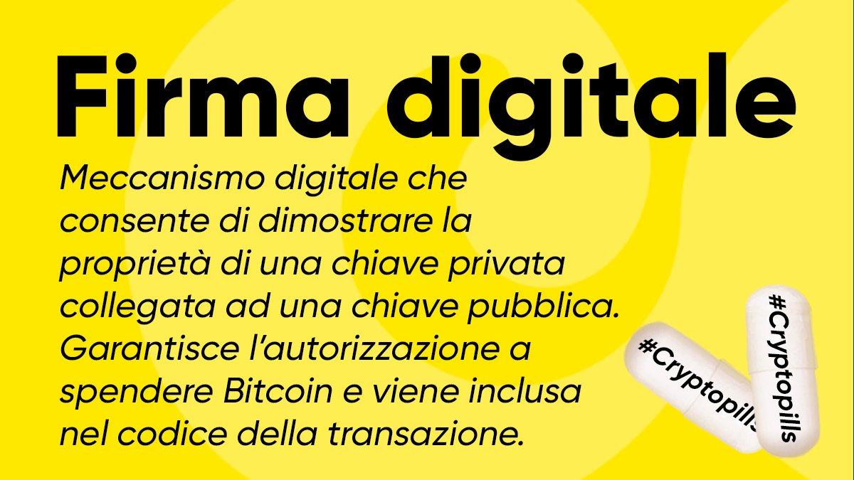 firma digitale bitcoin)