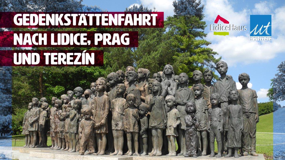 Ausschreibung für die von uns geförderte Gedenkstättenfahrt nach Terezín, Lidice und Prag vom 29.11. bis 04.12.2021 vom @LidiceHaus Bremen 👇