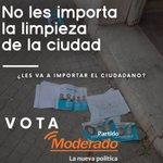 Image for the Tweet beginning: Saquemos la Mugre. Vota distinto,