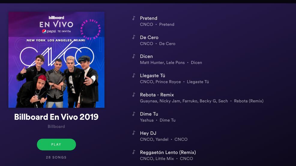CNCO's En Vivo playlist is here! #bbenvivo #pepsiamplify #ad  https:// blbrd.cm/VpxI9g    <br>http://pic.twitter.com/f2lBj49aGy