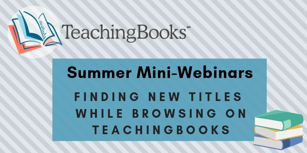 test Twitter Media - Explore our Browse tool with us!  This 15 minute webinar will show you how to Browse to discover books to add to your collection, curriculum, or reader's advisory lists AND find resources to support your goals!  Join us: https://t.co/LhuCO8lwsB https://t.co/XfCgEeGkWW