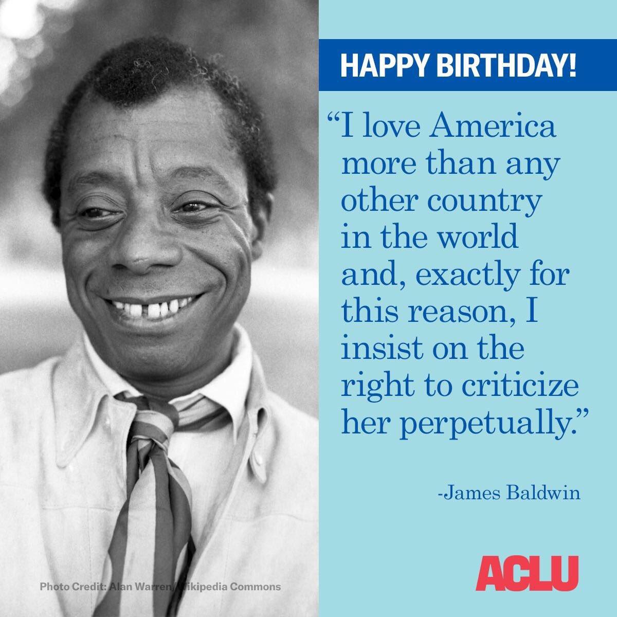 Happy birthday, James Baldwin!