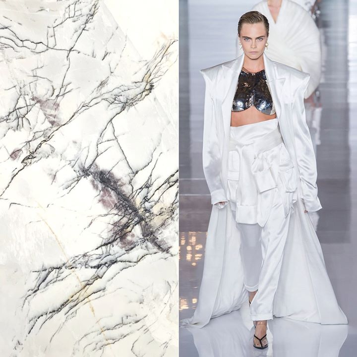 Fashion Friday ⚡ We see you 👀 @caradelevingne in this all white  @Balmain ensemble!  Oh and that Lilac Marble is pretty hot too!!! 🤩 🤩 🤩 💥 💥 💥  #marble   #balmain #lilacmarble  #marblefabricator #bostonmarble #lineacouture #cumarmarbleandgranite #cumarinc #fashionfriday https://t.co/wdwQA6pNh8
