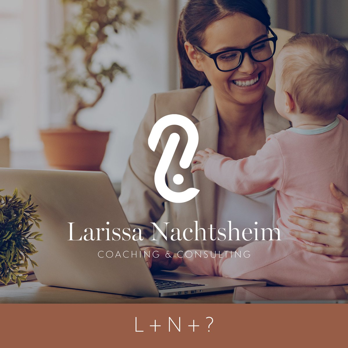Mit Freude haben wir die #Logoentwicklung für Larissa Nachtsheim übernommen. Die #Bildmarke des #Logos setzt sich aus den Anfangsbuchstaben ihres Vor- und Nachnamens & dem Fragezeichen als #Symbol für die Beantwortung der Fragen im #Coaching zusammen. #logo #agency #design
