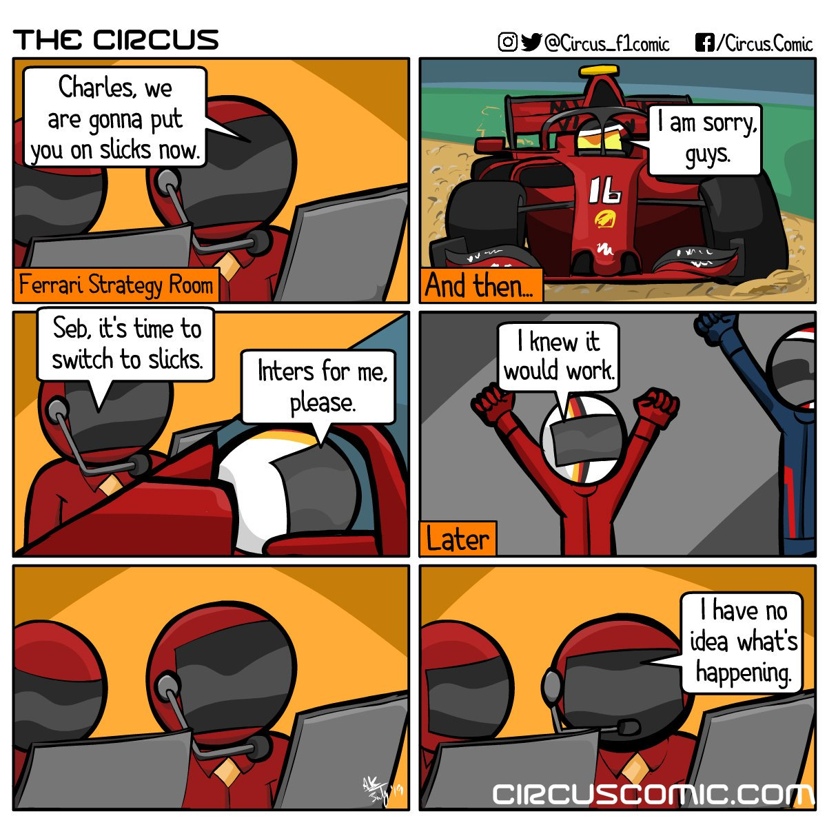 Same. (One last comic from the #GermanGP)  #StrategyGuyReturnsToStrikeAgain #Vettel #GermanGP #HungarianGP #F1 #formula1