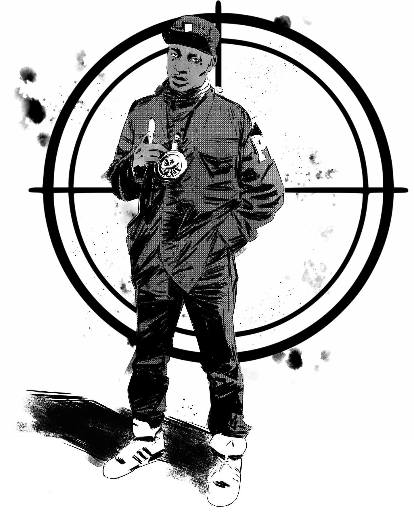 Yesterday s drawing - happy (now belated) birthday to Chuck D of Public Enemy