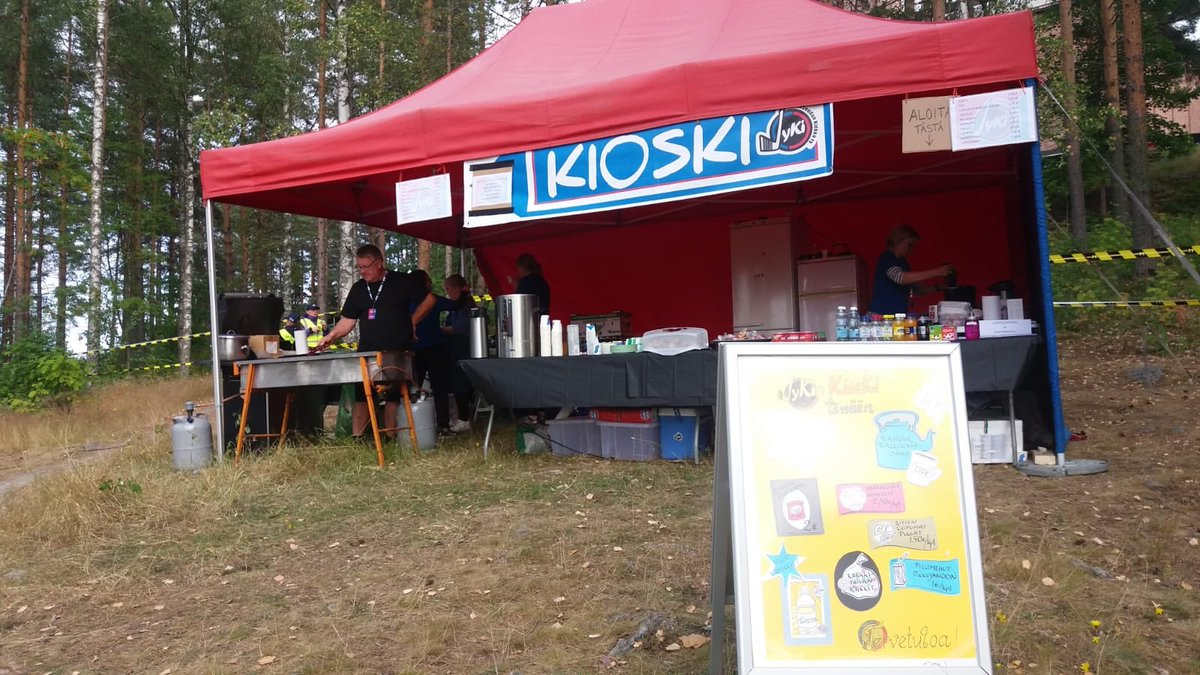 Hey, if you are going to Harju stage tonight, you can visit the «kioski» of our Ice Hockey Club in case you need anything to eat or drink! 😉  #RallyFinland #JYKI https://t.co/ZLtApfhD1Q