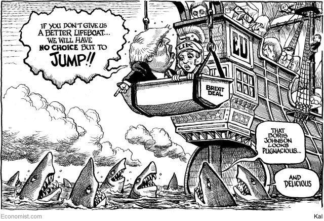 Political Cartoon On Twitter Kal On Brexit Borisjohnson
