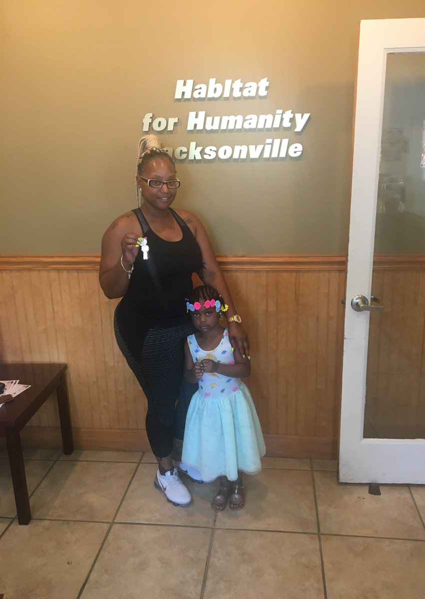 Robin just closed on her new home! Congratulations and welcome to the #HabiJax Family! #AffordableHomeownership #NewHomeowner