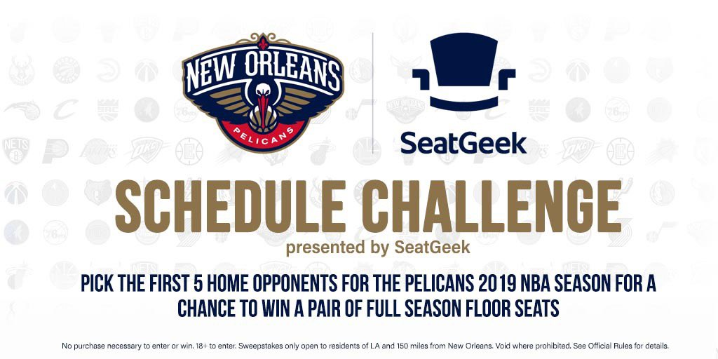 New Orleans Pelicans On Twitter Want A Pair Of Full Season