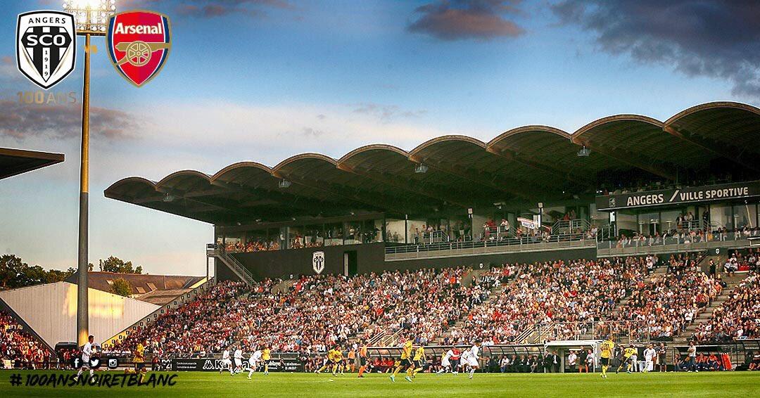 Angers SCO vs Arsenal photo Ouest MEDIAS stade Raymond Kopa