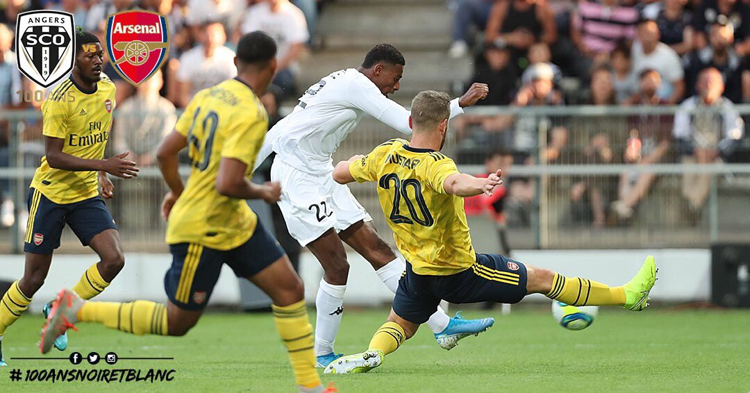 Angers SCO vs Arsenal photo Ouest MEDIAS Jeff Rene Adelaide