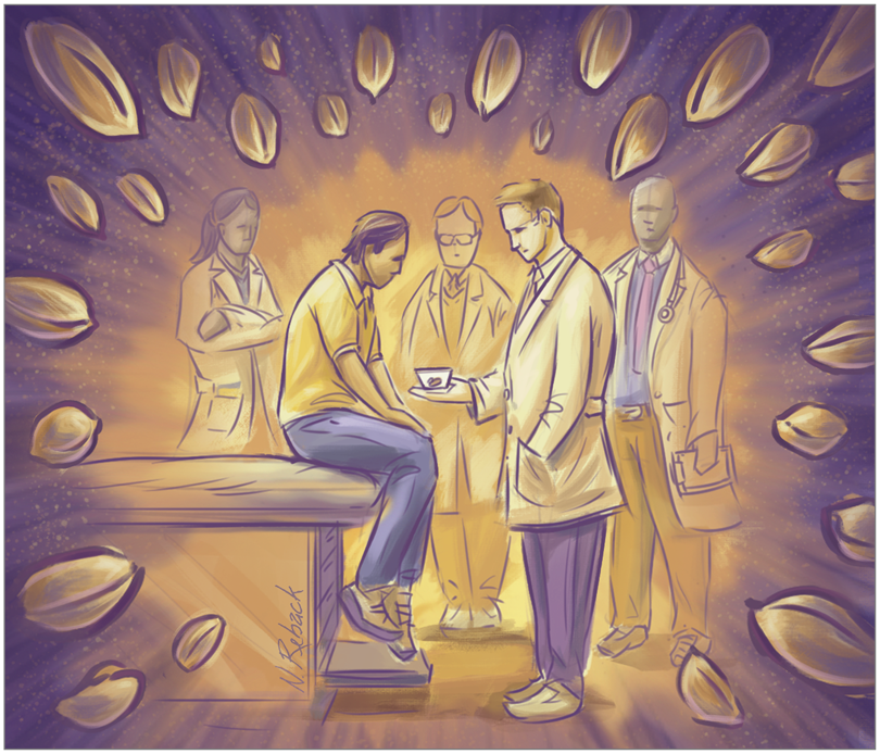 The @US_FDA is expected to rule on the first peanut desensitization product this year. But for many, such treatments *increase* allergic reactions. In my latest for @JAMA_current I looked at the risks + rewards of oral immunotherapy for peanut allergies. bit.ly/332Wqeo