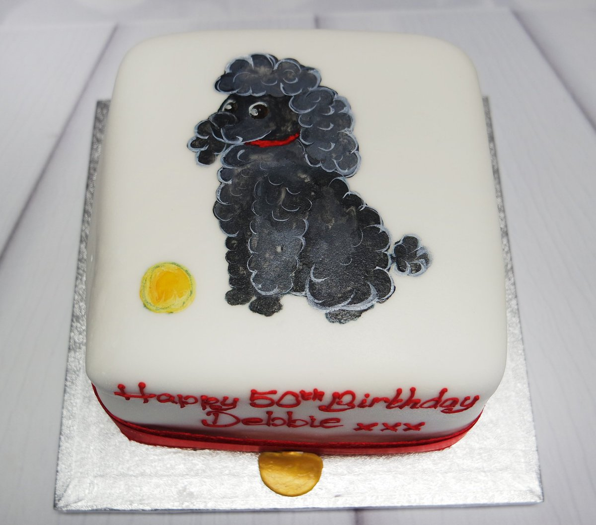 Admirable Crafty Cakes On Twitter A Hand Painted Poodle For A Special Funny Birthday Cards Online Aeocydamsfinfo