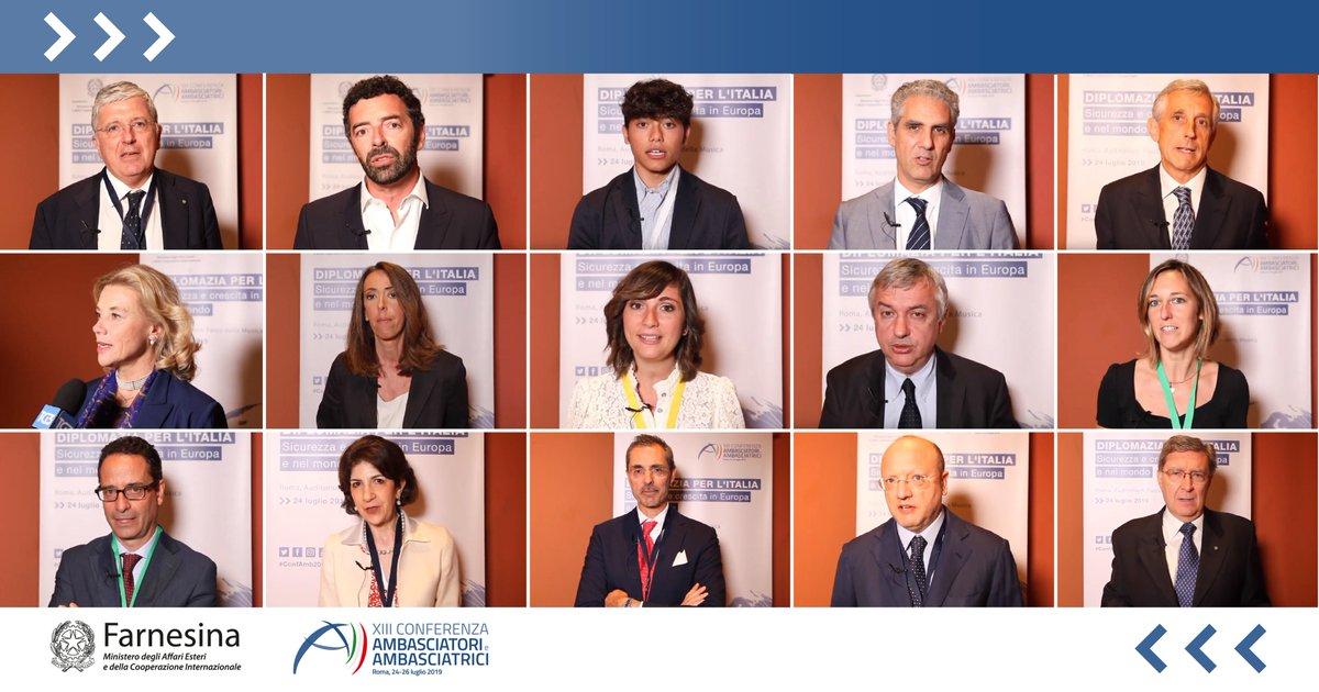A margine di #ConfAmb2019, abbiamo rivolto ai nostri ospiti qualche domanda sul ruolo della #diplomazia italiana. 📺Guarda tutte le interviste: youtube.com/playlist?list=…