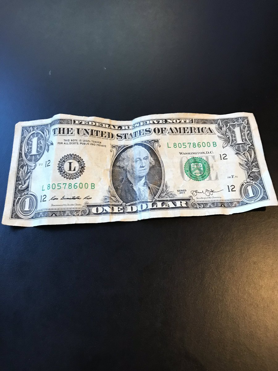 What's inside the card as well? A single, wrinkled, $1 bill from her piggy bank. Let that sink in for a moment: