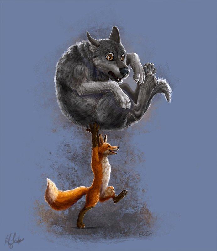 Днем рождения, волк и лиса картинки прикольные