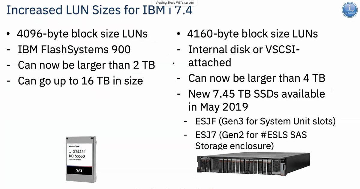 Increased LUN Size fir IBMi 7 4 #PowerVC #IBMCHAMPION