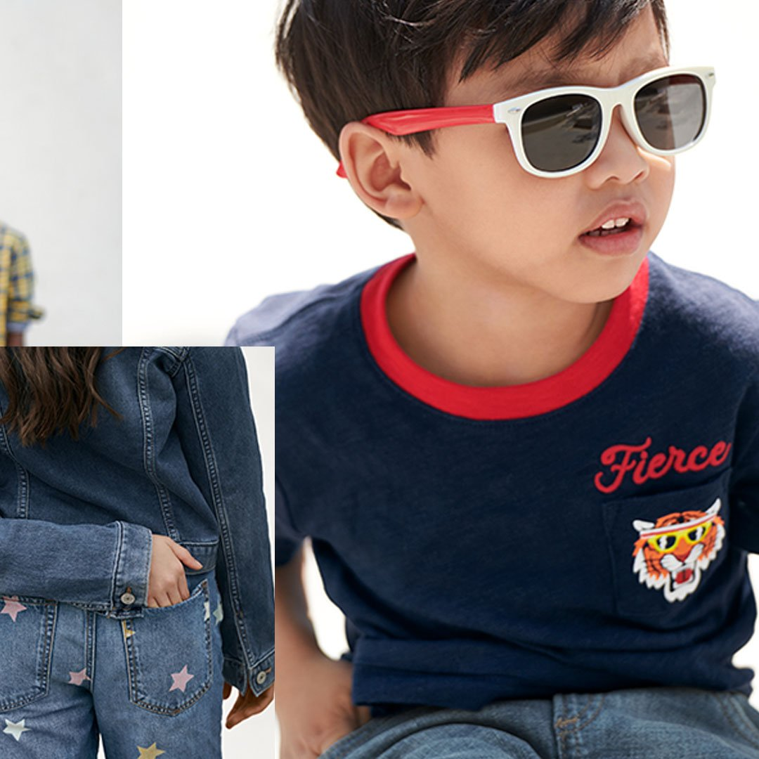 Graphic tees and Superdenim to wear on repeat = outfits to keep them moving FORWARD. likeshop.me/gapkids #GapToSchool