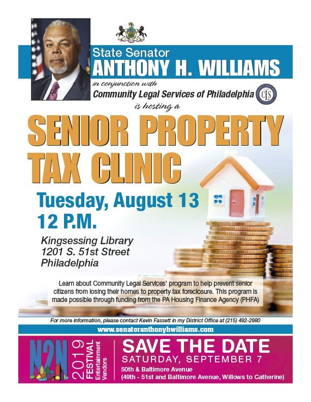 Senior Property Tax Clinic flyer