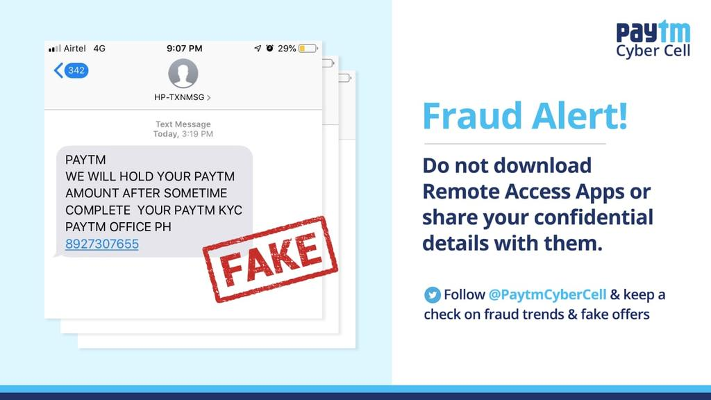 Fake Paytm Website