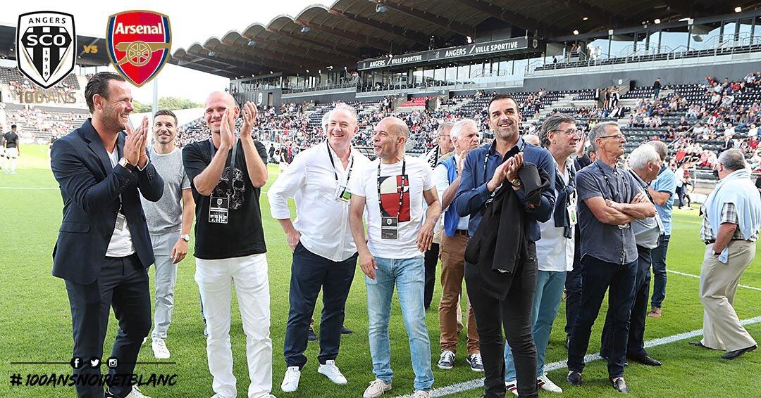 Angers SCO vs Arsenal photo Ouest MEDIAS centenaire anciens joueurs Steve Savidan